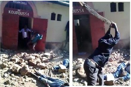 Lynchage de prisonniers en Guinée. Adamakoula