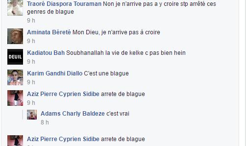 Les commentaires sur une publication de Dieretou Diallo