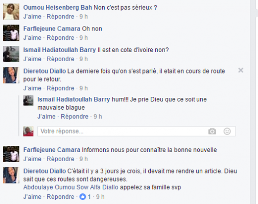 Les commentaires sur une publication de Dieretou Diallo dans ablogui