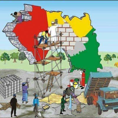 Les guinéens construisant la Guinée